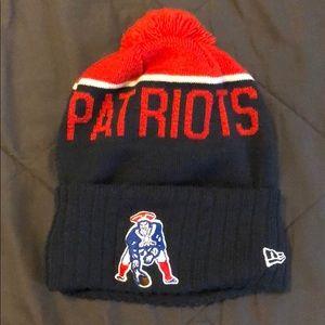 New England Patriots Ball-Top Beanie (New Era)